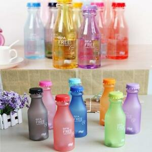 Travel Small Leak-proof Unbreakable Sport Water Bottle Camping Cycling Cup LA
