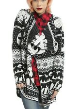 Disney The Nightmare Before Christmas Fly Away Fair Isle Cardigan Size Small NWT