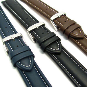 e7d22b8a831 CONDOR 336R Padded Calf Leather Watch Strap White Stitching 18mm ...