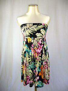 Morgan Robe Bustier Imprime Tropical T M 38 Neuf Ebay