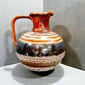 Vintage Royal Haeger Large Drip Glazed Jug Ewer Pitcher Pottery Vase