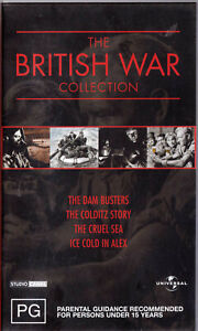 BRITISH-WAR-COLLECTION-4-Classic-Films-VIDEO-VHS-Pal-SirH70