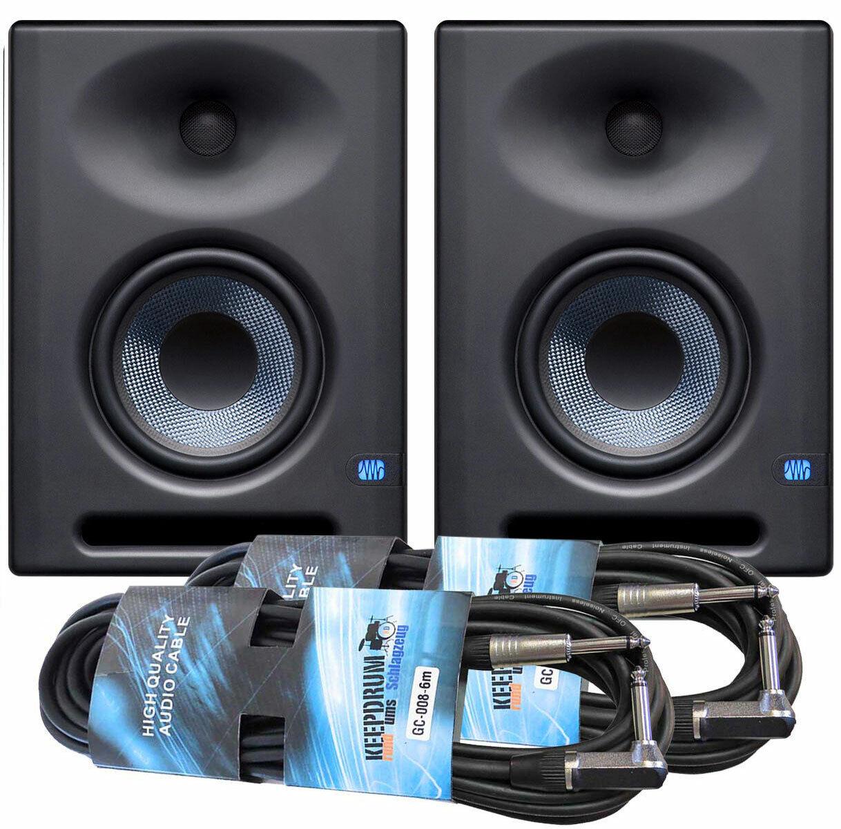 Presonus Eris E5 XT Studio Moniteur 1 Paire 2x Keepdrum Kabel Jack 6m