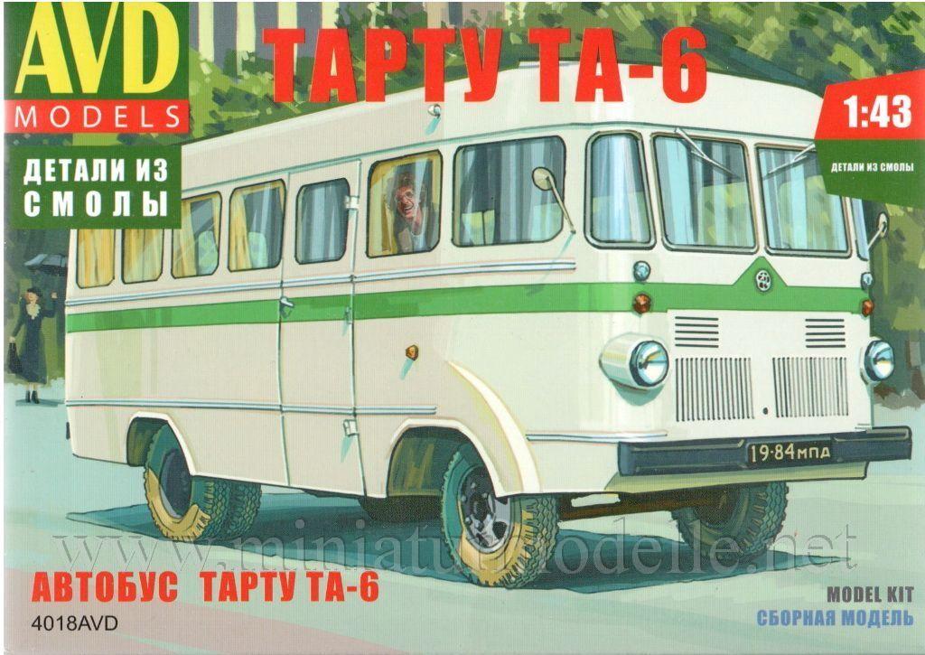 Obtén lo ultimo 1 43 Tartu ta 6 bus bus bus AVD models 4018avd ruso Soviet kit kit Russian OVP  la calidad primero los consumidores primero