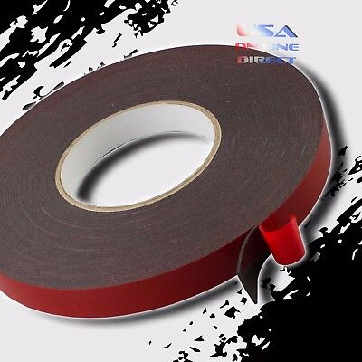 "3//4/"" Wide Double Sided acrylic Foam High Strength Adhesive Tape 60 Foot Roll USA"