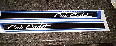 CUB CADET 124 HOOD DECAL STICKER TRACTOR