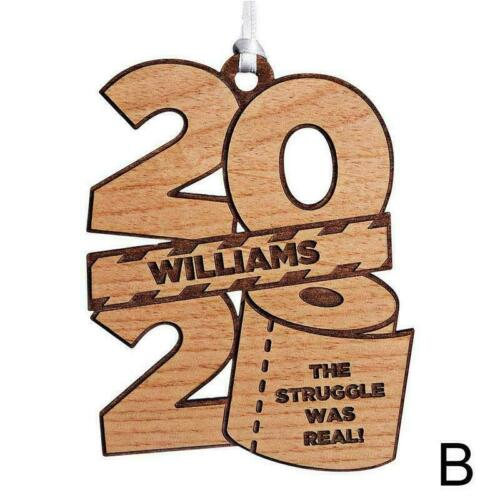 2020 Christmas Tree Personalized Wooden Toilet Paper Decor Tree Ornaments Y1Y0