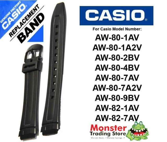 CASIO WATCH BAND REPLACEMENT ORIGINAL ONLY FITS: AW-80, AW-82