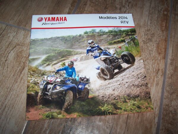 2019 Nieuwe Stijl Catalogue / Brochure Yamaha Gamme Atv / Utv 2014 // Online Winkel