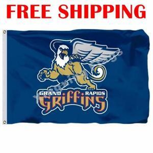 Grand-Rapids-Griffins-Logo-Flag-AHL-American-Hockey-League-2018-Banner-3X5-ft