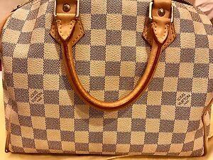 c8a0c3b39ca2 Image is loading Louis-Vuitton-Damier-Azur-Speedy-25-Bag