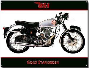 Image Is Loading BSA GOLDSTAR DBD34 MOTORCYCLE METAL SIGN VINTAGE