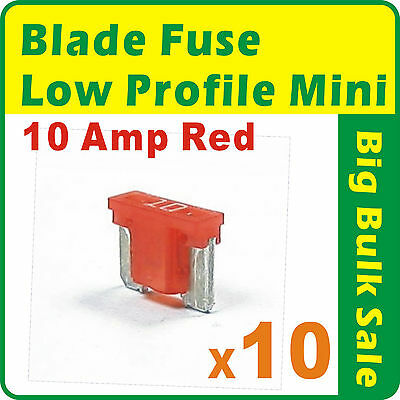 FUSE Wedge Low Profile Mini Blade 10 Amp Red
