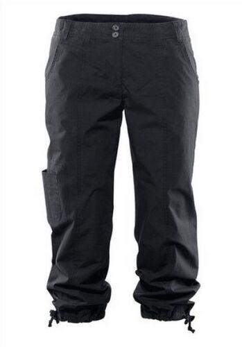 BEACH TIME cargopant Taille 32-40 Femmes Neuf 7//8 Pantalon Noir Corsaire Décontracté