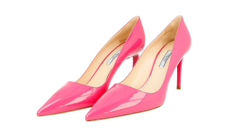 Lujo prada pumps zapatos 1i221f Peonia nuevo New 39,5 40 UK 6.5