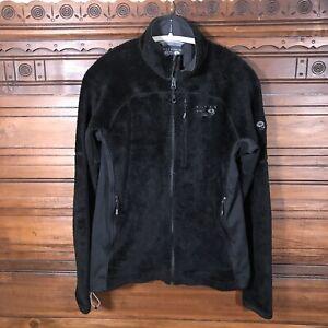 Mountain-Hardwear-Monkey-Man-Grid-II-Zip-Fleece-Jacket-Men-039-s-M-Black-Polartec