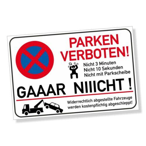 Parkverbotsschild LUSTIG witzig Parken verboten Parkverbot Schild DRU 0114