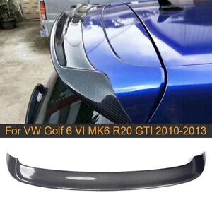 Carbon Fiber Dachspoiler Auto tuning Spoiler Für VW Golf 6 MK6 R20 GTI 2010-2013