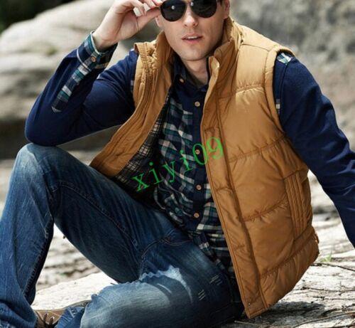 mangas Puffer acolchados Parka Fit Plus invierno Chaleco sin de abrigos Slim Moda para hombre 7f8qwv8gX