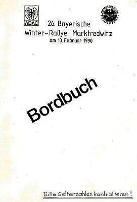 Rallye - Sport Bordbuch Bayer. Adac-winterrallye 1990 Dauerhafter Service