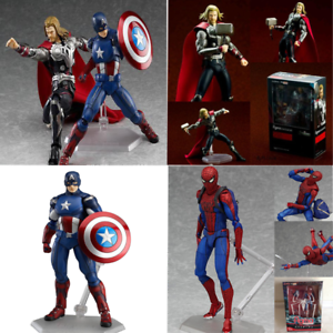 Marvel-The-Avengers-Hulk-Thor-Spiderman-Captain-Ironman-Figma-Action-Figure