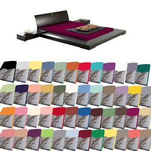 Perfetto-Wasserbett-Spannbetttuch-Jersey-Spannbettlaken-48-Farben-Ubergroessen