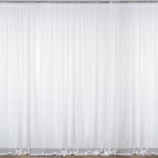 Item 2 WHITE 10 X Ft Sheer Lace BACKDROP CURTAINS Drapes Panels Home Decorations