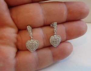 925-STERLING-SILVER-MICRO-PAVE-HEART-INLAY-DANGLING-EARRINGS-W-1-CT-LAB-DIAMONDS