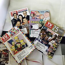 LOT OF 10 BACK ISSUES OF TV GUIDE MAGAZINE FROM 1986-2000