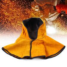 Breathable Cowhide Split Leather Welding Hood With Neck Shoulder Drape Shawl Hat