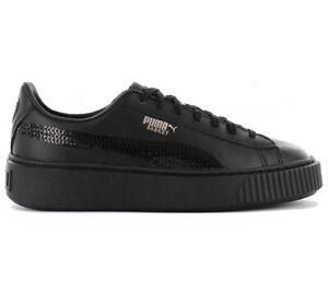 2634a9bb215f29 Image is loading Puma-Platform-Basket-Bling-Sneaker-Women-Plateau-Shoes-