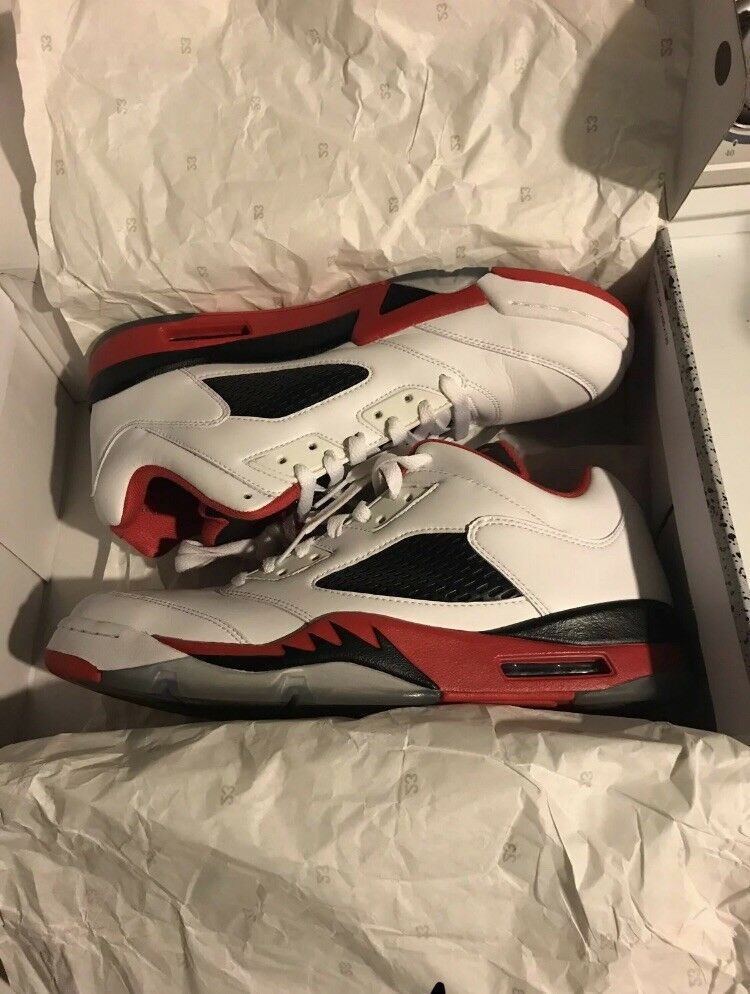 Nike Air Jordan 5 V Retro Low Fire Red Men's 10.5