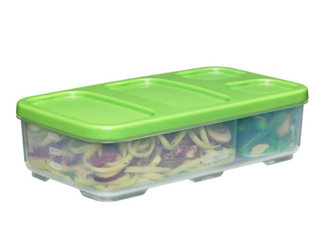 Rubbermaid Lunch Blox Entree Food Container With Dividers Case of 6