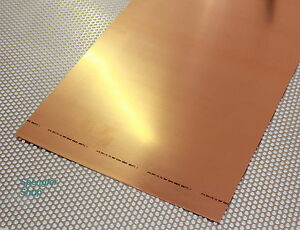 1 m² Kupferblech 0,60 mm in Streifen.