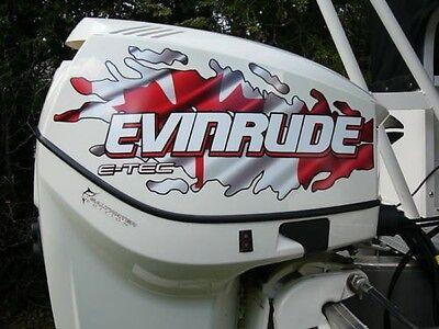 Evinrude V4 E Tec Canadian And American Flag Tear Decal Kit Ebay