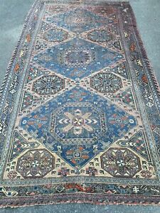 Grand-Tapis-Ancien-Turkmene-Boukhara-Kilim-Antique-Carpet-Persian-360-x-195-cm