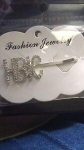 Diamond Words Letters Hair Clip Hairpin Barrette Slide Grips Jewelry Headpiece