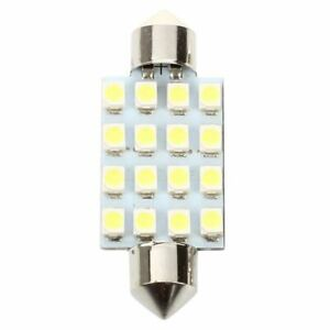 1X-8pzs-41mm-16-SMD-LED-Blanco-Luz-de-cupula-de-feston-Bombillas-211-2-212-2-g7