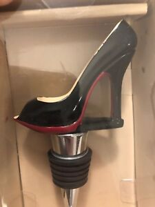 Details About Nib Wild Eye Designs High Heel Wine Stopper Black And Red 4 75 Tall