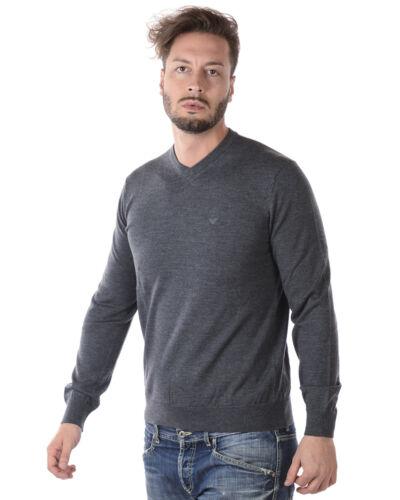 8n1m921m4cz Lana Emporio Armani Maglia Grigio 632 Pullover Sweater Maglione Uomo wU8ZqXv