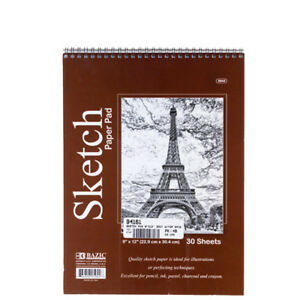 30-Sheets-9-034-X12-034-Side-Bound-Spiral-Premium-Sketch-Book-Paper-Pad-Drawing-Artist