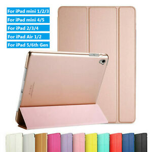 Tablet Shell Flip Stand Smart Case For iPad Air/Pro/mini 7.9'' 9.7'' 10.5''