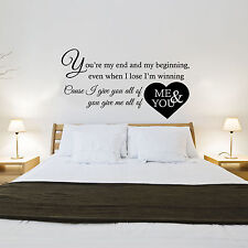 John Legend - All Of Me Letras de Canciones - Decoración Pared Adhesivo