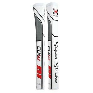 Super Stroke Traxion Claw 1.0 Putter Grip - White/Red/Grey - 19834 Ships Free
