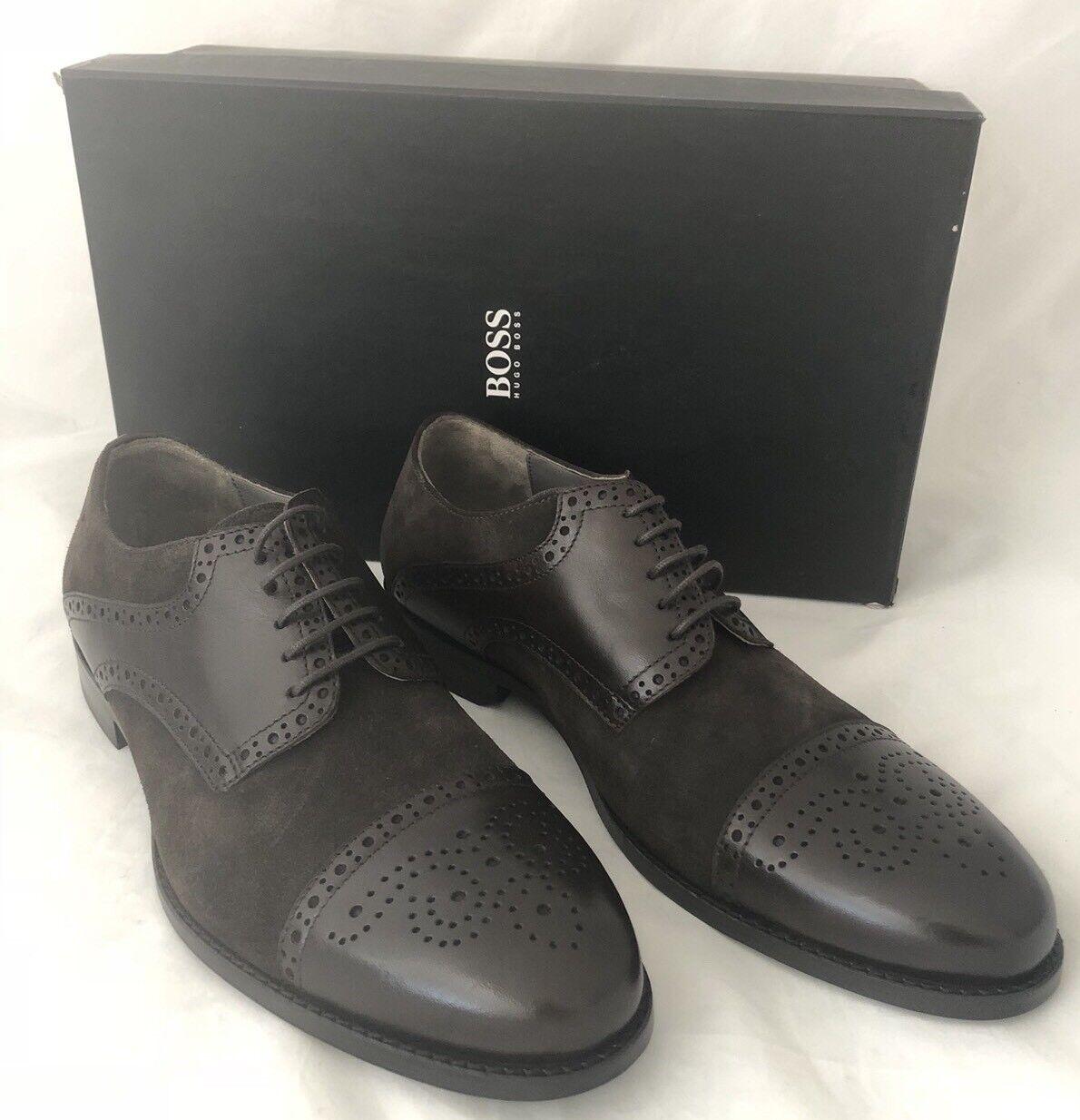 NIB 245 Boss Hugo Boss Suede/Leather Men's C-Gramix Shoes Brown 8.5 US 50299506