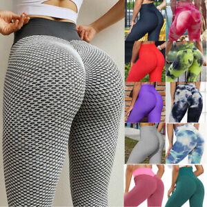 Women Anti-Cellulite High Waist Yoga Pants Gym Leggings Sport Elastic Trousers~~