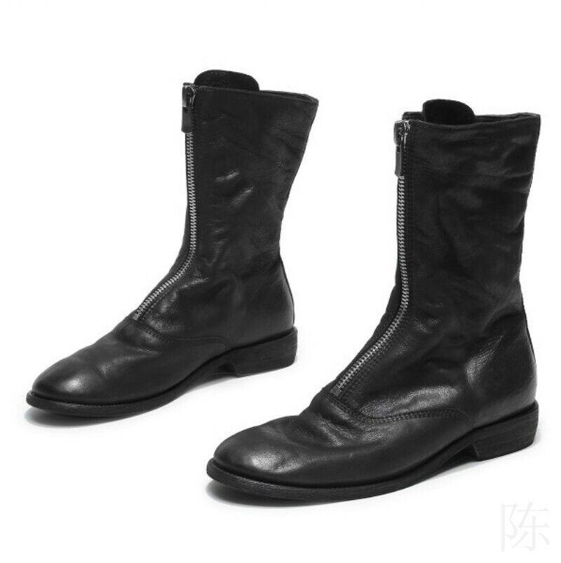 Absatz niedriger Knöchel Cowboy Springer Stiefel Leder