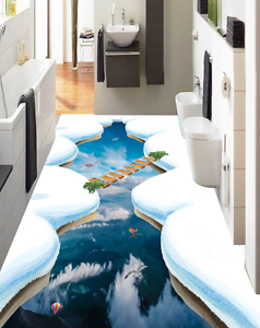 3D Balloon Lake Snow 87 Floor Wall Paper Murals Wall Print AJ WALLPAPER UK Lemon