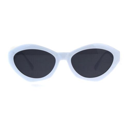 Womens Mod Narrow Oval Angular Geometric Cat Eye Sunglasses