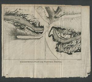 1787 Engraving Natural Bridge, Francois Jean de Chastellux TRAVELS NORTH AMERICA
